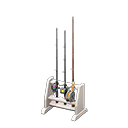Rastrelliera da pesca (Bianco)