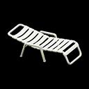 Sedia a sdraio (Bianco)