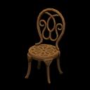Sedia da giardino di ferro (Marrone)