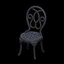 Sedia da giardino di ferro (Nero)