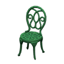 Sedia da giardino di ferro (Verde)