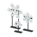 Set fiocchi di neve illuminati (Arcobaleno)