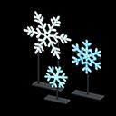 Set fiocchi di neve illuminati (Bianco)