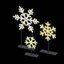 Set fiocchi di neve illuminati (Giallo)