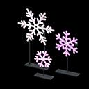 Set fiocchi di neve illuminati (Rosa)