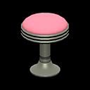 Sgabello bar anni '50 (Rosa, Rosso)