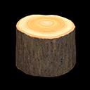 Sgabello tronco (Legno scuro)