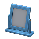 Specchio da tavolo di legno (Blu)