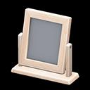 Specchio da tavolo di legno (Legno bianco)