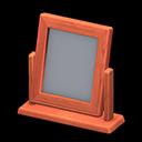 Specchio da tavolo di legno (Legno di ciliegio)
