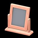 Specchio da tavolo di legno (Legno rosa)