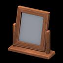 Specchio da tavolo di legno (Legno scuro)