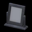 Specchio da tavolo di legno (Nero)