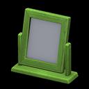 Specchio da tavolo di legno (Verde)