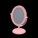 Specchio da tavolo (Rosa)