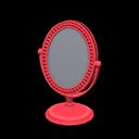Specchio da tavolo (Rosso)