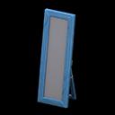 Specchio da terra di legno (Blu)
