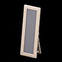 Specchio da terra di legno (Legno bianco)