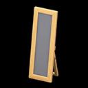 Specchio da terra di legno (Legno chiaro)