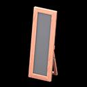Specchio da terra di legno (Legno rosa)