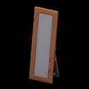 Specchio da terra di legno (Legno scuro)