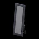 Specchio da terra di legno (Nero)