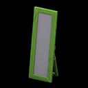 Specchio da terra di legno (Verde)
