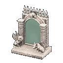 Specchio gotico fantasia (Bianco)