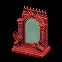 Specchio gotico fantasia (Rosso)