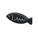Targa da porta pesce (Nero)