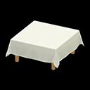 Tavola con tovaglia (Bianco)