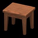 Tavolino di legno (Legno scuro, Nessuno)