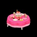 Tavolo di compleanno (Rosa)