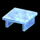 Tavolo iceberg (Blu ghiaccio)