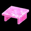 Tavolo iceberg (Rosa ghiaccio)