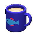 Tazza (Blu, Pesce)
