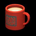 Tazza (Rosso, Logo quadrato)