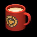 Tazza (Rosso, Logo rotondo)