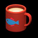 Tazza (Rosso, Pesce)