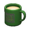 Tazza (Verde, Logo quadrato)