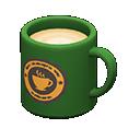 Tazza (Verde, Logo rotondo)