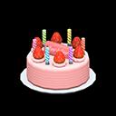 Torta di compleanno (Crema alla fragola)