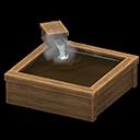 Vasca da bagno in cipresso (Legno scuro)