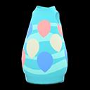 Abito a uovo celeste (Blu)