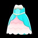 Abito principessa sirena (Blu chiaro)