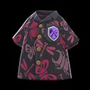 Camicia aloha insetti (Nero)
