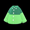 Camicia bicolore (Verde)