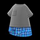 Camicia legata in vita (Blu)