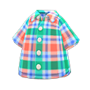 Camicia madras (Verde)