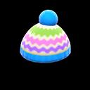 Cappellino colorato di lana (Blu chiaro)
